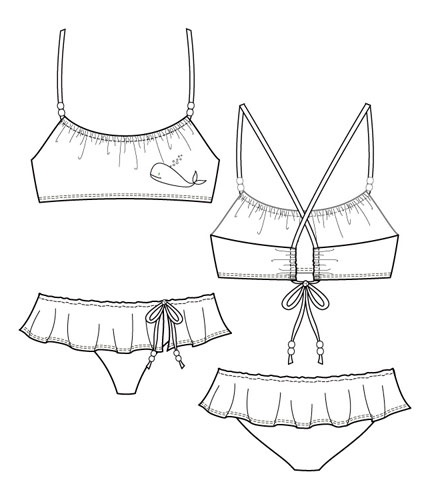 Flat Fashion Sketch - Other 003 - Swimwear