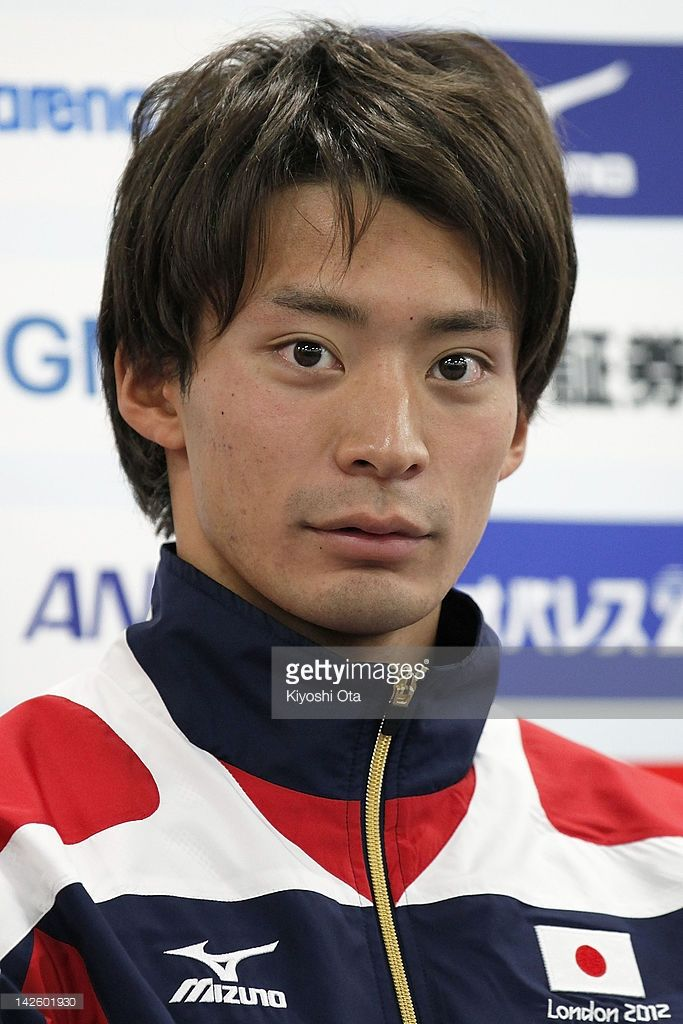 Ryosuke Irie attends a press conference to announce the Japan swimming team for the London 2012 Olympic Games at the Ajinomoto National Training Center on April 9, 2012 in Tokyo, Japan.