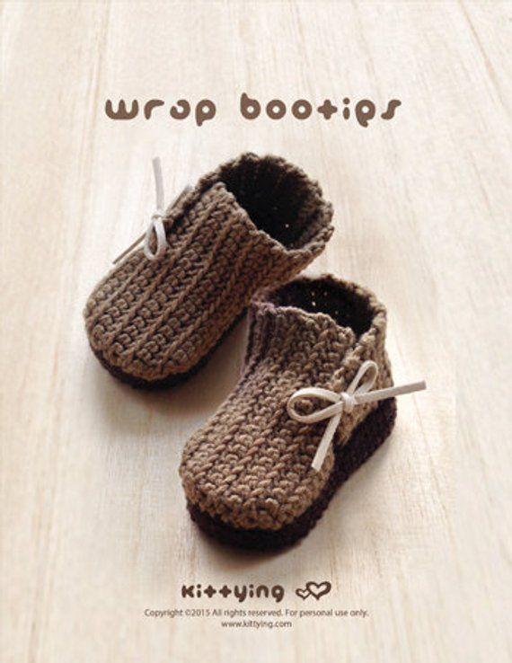 Crochet Pattern Baby Booties Crochet Pattern Wrap Baby Boots Crochet