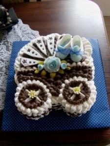 Penová torta kočík