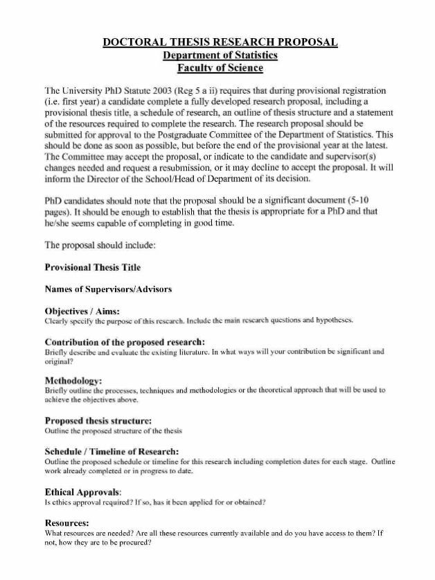 Good Phd Thesis Proposal - Experts' opinions