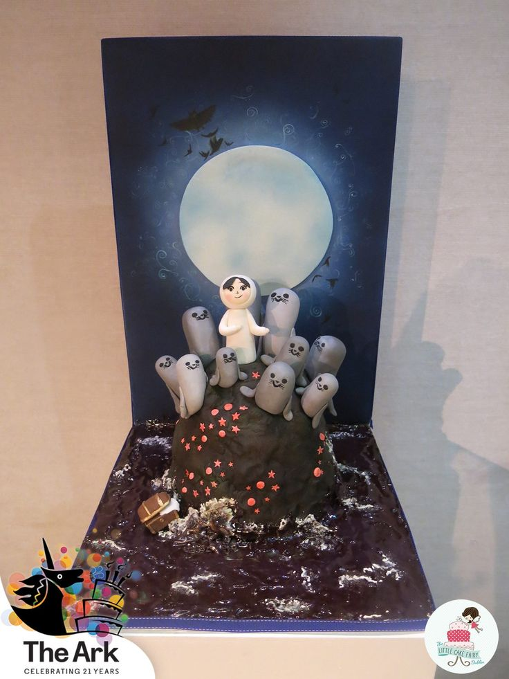 My piece from the Ark Theatres 21st Birthday exhibition/cake collaboration based on the Irish animated film, Song of the Sea