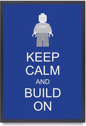 Legoman Lego Minifigure Keep Calm And Build On by Bardaron - kids decor - Etsy