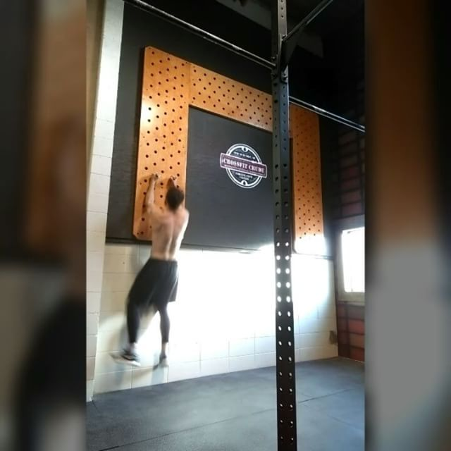 Climbed our Huge Pegboard twice today! #crossfit #fitness #WOD #workout #fitfam #gym #fit #health #training #CrossFitGames #bodybuilding