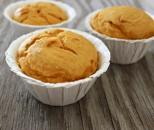 Pumpkin muffins = yellow cake mix +  pumpkin.