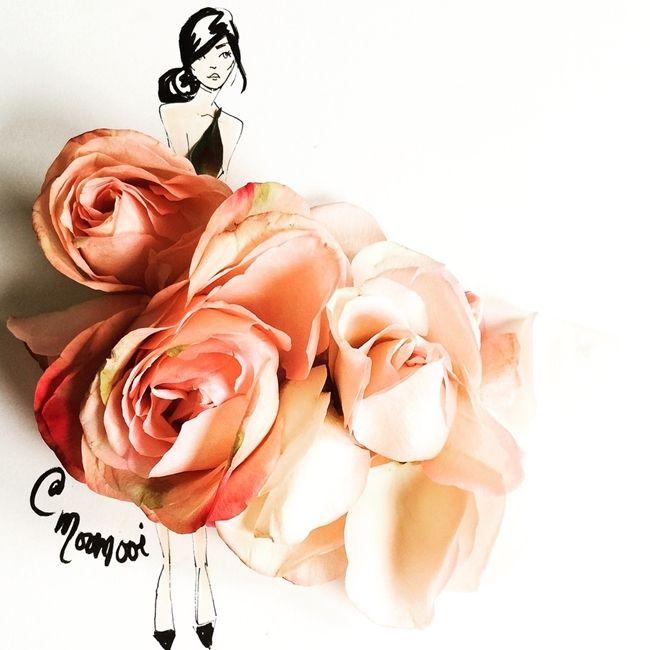 Çizimlerinde Sebzeleri ve Çiçekleri Kullanan Modacıdan 20 Olağanüstü İllüstrasyon Sanatlı Bi Blog 1