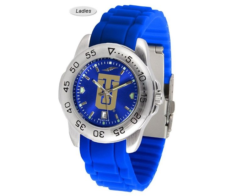 The Sport AnoChrome Tulsa Golden Hurricane Watch is available in a Mens style. Showcases the Golden Hurricane logo. Color-coordinated silicone band. Ships Free. Visit SportsFansPlus.com for Details.
