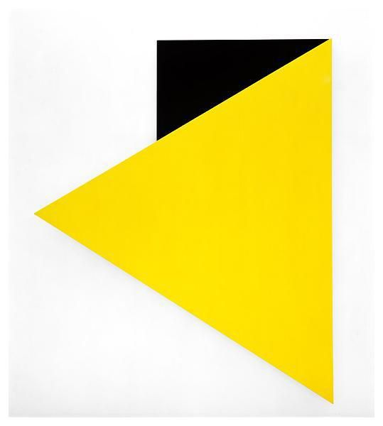 Yellow Relief with Black 1993   Ellsworth Kelly