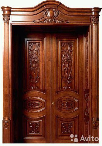 Резные двери из массива дерева разных пород
