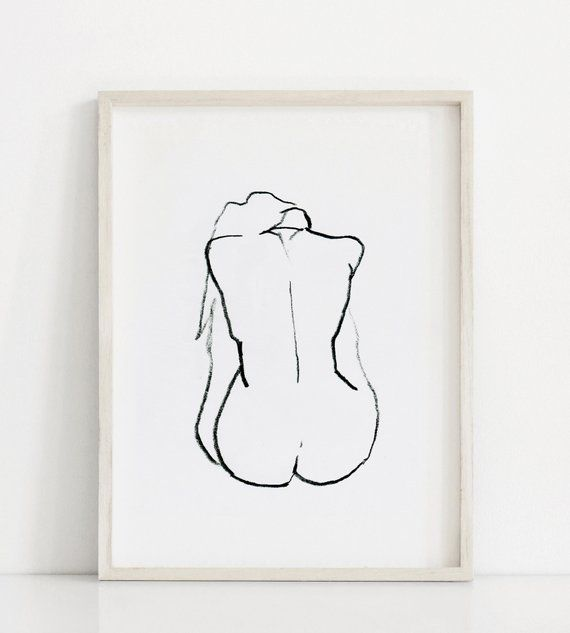 Nude Art Prints, Original Figure Drawings, Nude Prints Set, Minimal Line Drawings Art Set, Nude Figure Print Set, Line Art, Illustration – Morgane