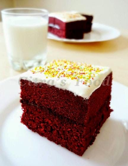 Citra's Home Diary: Steamed Red Velvet Brownie Sandwich with Cream cheese frosting