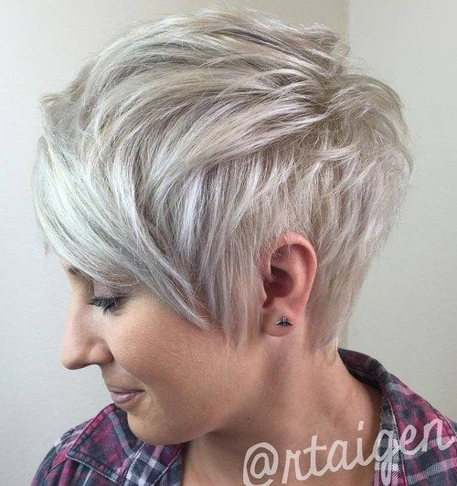 Ash+Blonde+Layered+Pixie