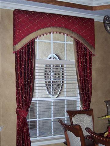 Curved Cornice Shape Design Window Treatments