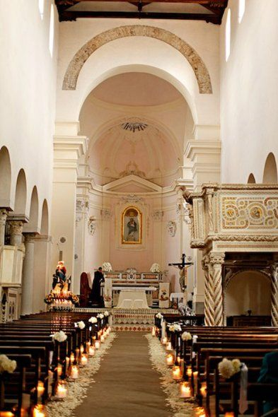 Roman Catholic Church arrangements every 3 or 4 pews