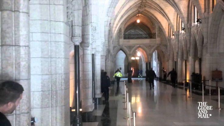 Gun fire exchange in Parliament Hill building