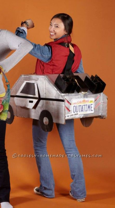I like the idea of making a cardboard car for kids to take pictures in