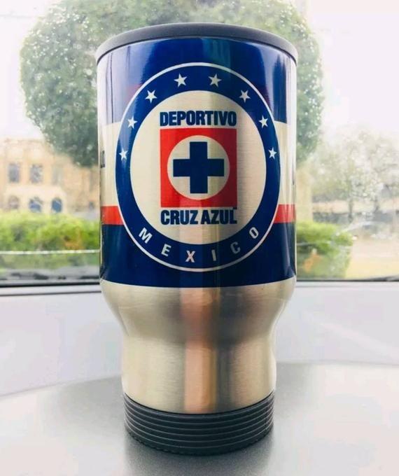 Cruz Azul La maquina celeste coffee mug cups taza de cafe