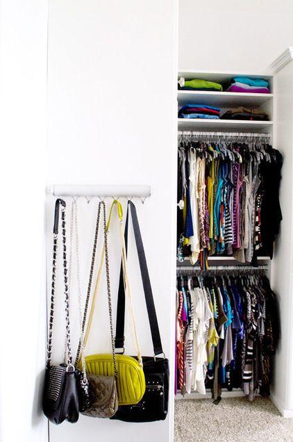 Great Handbag storage! traditional closet by California Closets