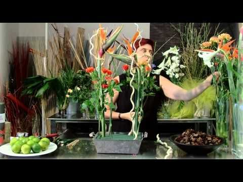 Trabajo floral Tropical - YouTube