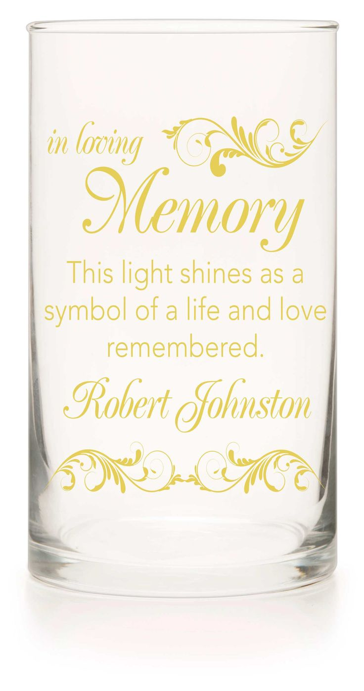 Memorial Candle - With This Ring Yellow - Personalized Candle Holders - Wedding Candles - 6