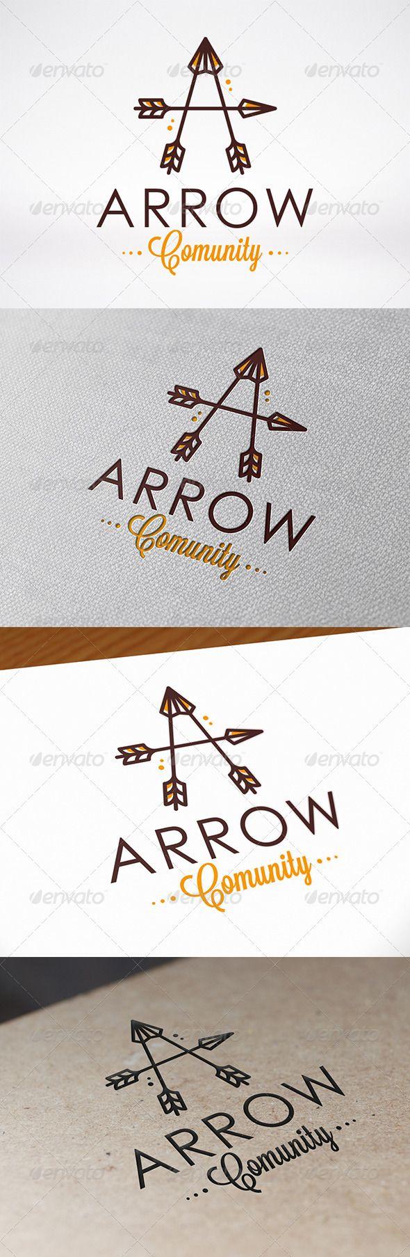 Arrow Letter A Logo Template - Letters Logo Templates