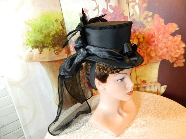 Tophat black Minihat Fascinator Minizylinder Steampunk Burlesque Wedding Bonnet Gothic Gown formal Dress Fascinator Hut Chapeau riding by Nashimiron on Etsy