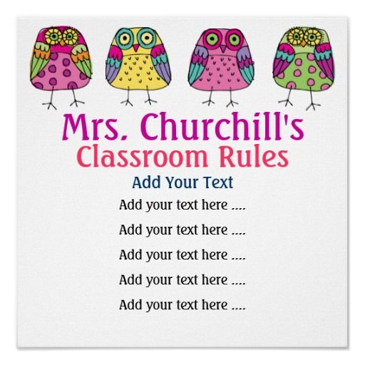 School Teacher's Classroom Rules LG. by SRF Posters  Click on photo to purchase. Check out all current coupon offers and save! http://www.zazzle.com/coupons?rf=238785193994622463&tc=pin