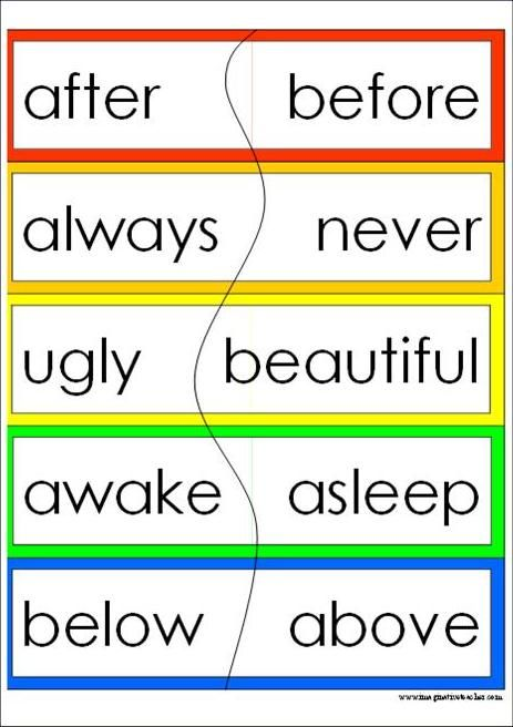 Worksheets Antonyms Words List 72 best images about antonym on pinterest opposite words word in meaning to another an good would be bad and fast slow
