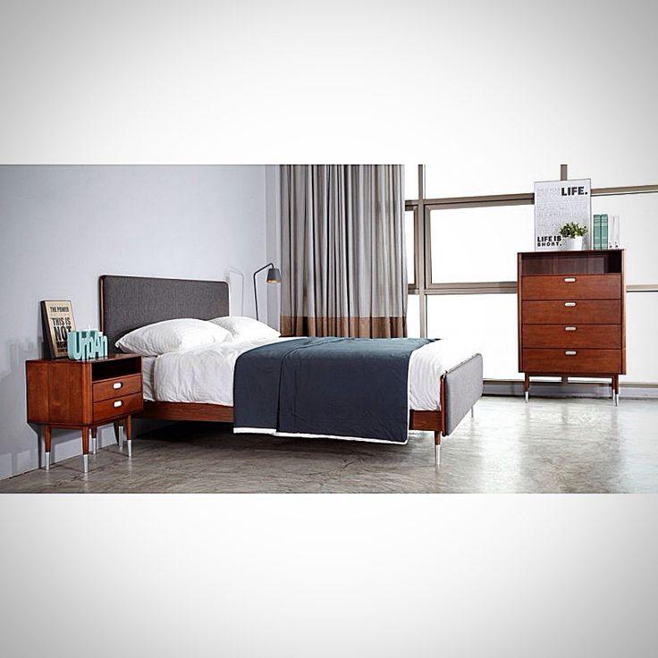 """Дизайн спальни из новой коллекции """"Bruni"""" от онлайн-маркет """"Этажерка"""" со скидкой всего за 173281 ₽. Материал - американский тополь."""