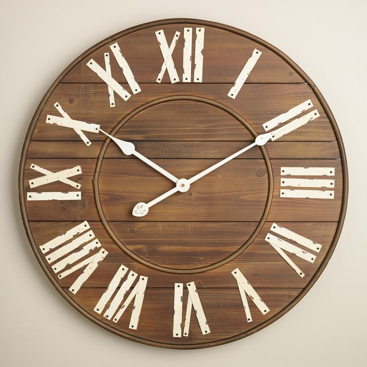 slatted wood wall clock 1