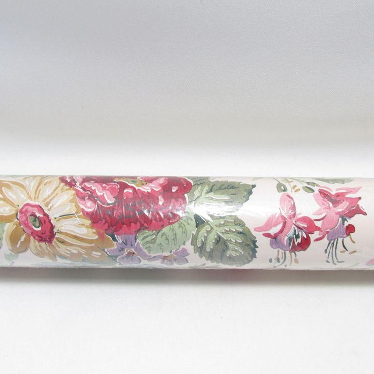 """Waverly Wallpaper Floral Flowers 559442 Double Roll 27"""" X 9 Yards New Vinyl #Waverly"""