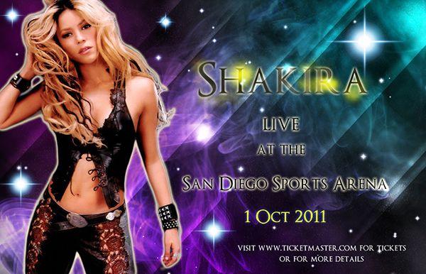 Shakira Concert Poster on Behance