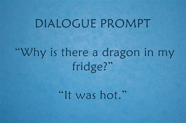 """Why is there a dragon in my fridge?"" ""It was hot."""