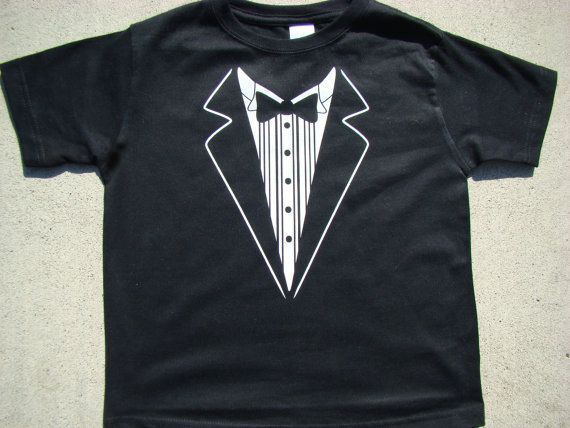 Wedding Tshirt Child size Tux shirtRingbearer by SweetBohemianLife, $20.00