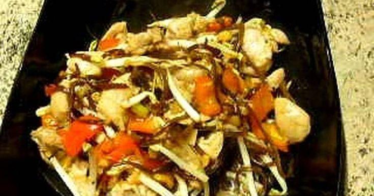WOK Pollo a la Miel. (Cambiar pollo por pavo o pato)  (wok 02)