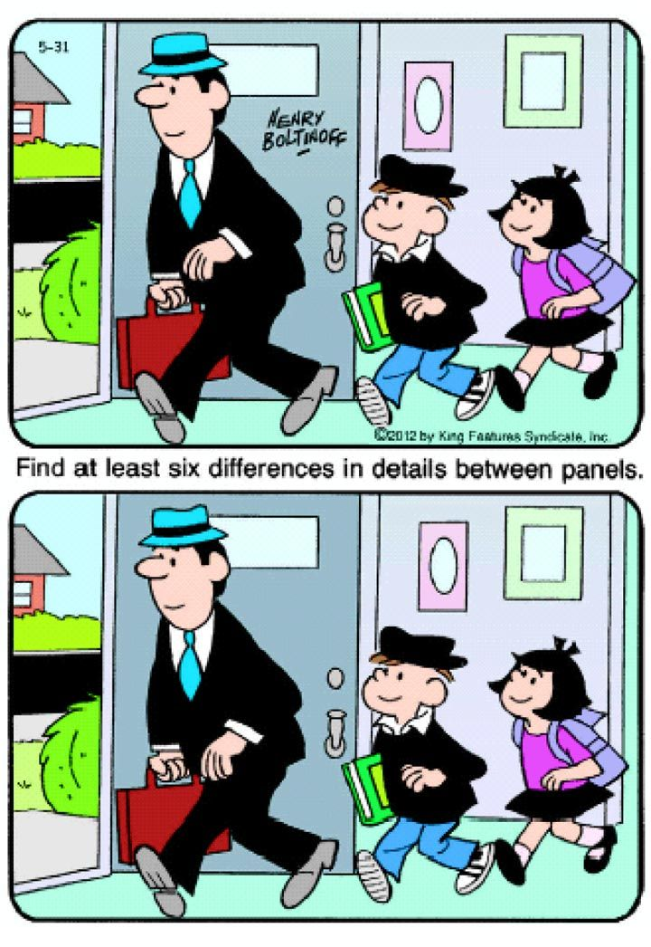 Puzzle- Spot The Difference- Going Out | Best,free,easy,awesome | Pin ...