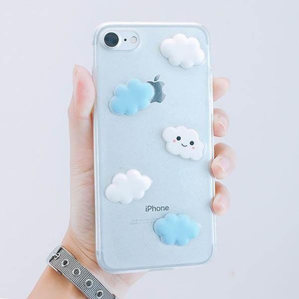 cloud iphone case cute glitter grunge aesthetic