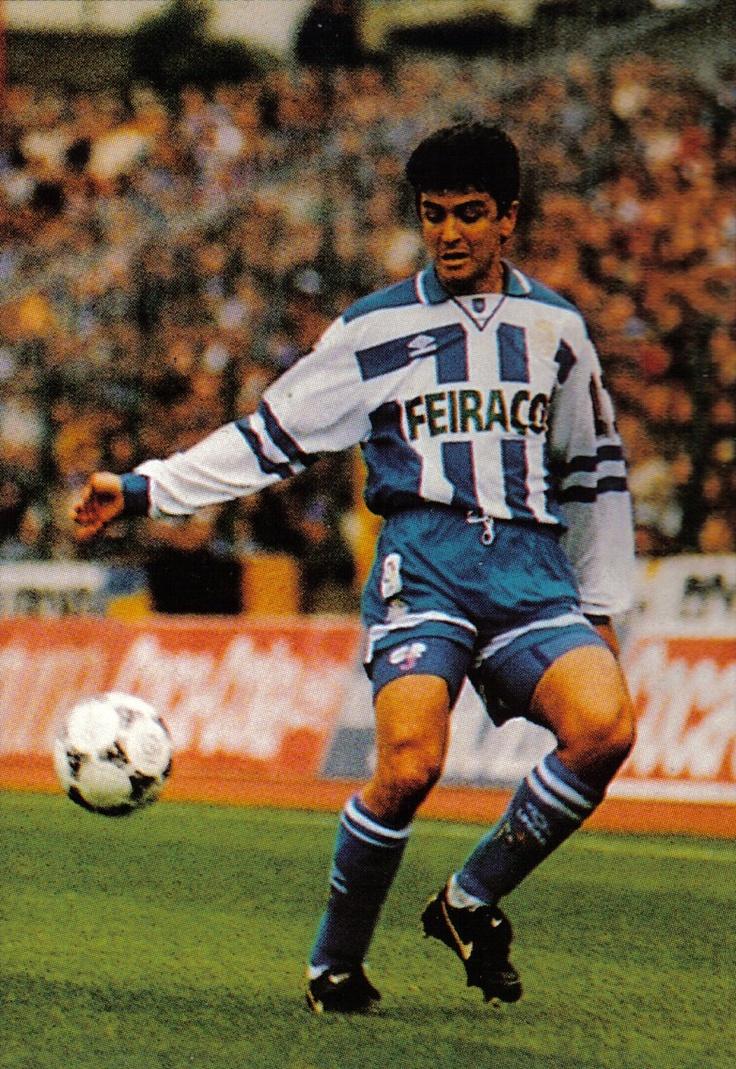 Bebeto, campeão da Copa do Rei da Espanha pelo La Coruña, em 1985.