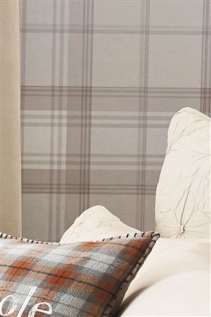 Buy Check Natural Wallpaper from the Next UK online shop