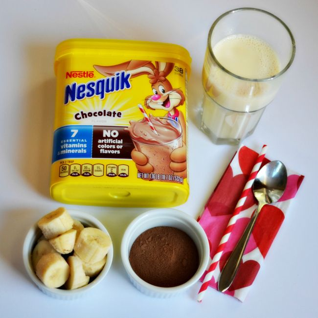 Chocolate Banana Smoothie Recipe https://ooh.li/da383e9 #nesquik ad