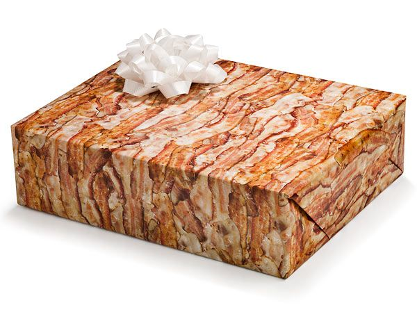 "Bacon Wrapping Paper. I can hear my wife now...""Stop licking the Christmas presents!""    -Perry  www.hautemealz.com"