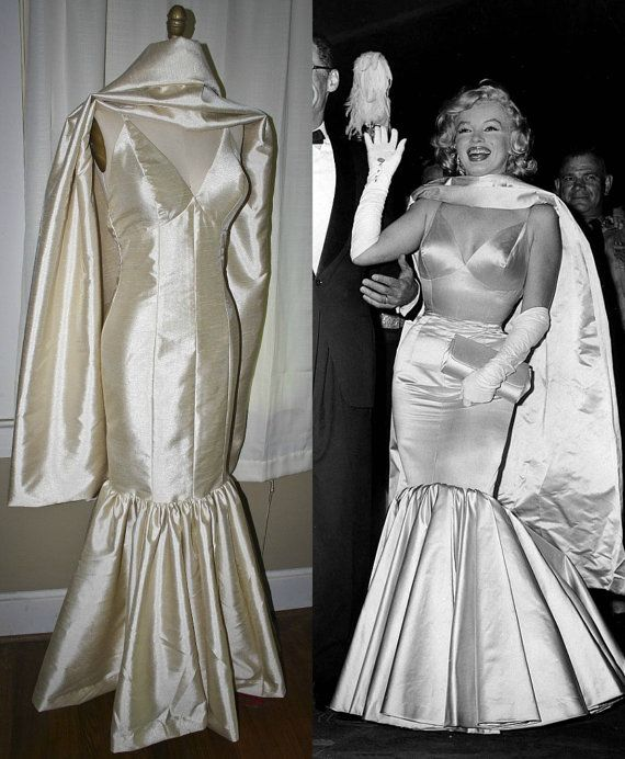 marilyn monroe dressmermaid evening gown wedding by