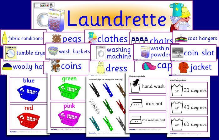 Laundrette role-play pack (SB634) - SparkleBox