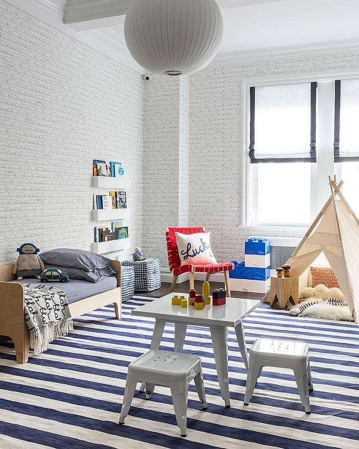 25 vivacious kids rooms with brick walls full of personality - Brick Kids Room Decor