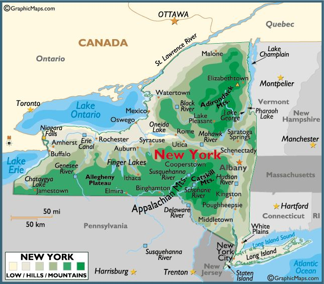 allegheny plateau map new york state - Google Search ...