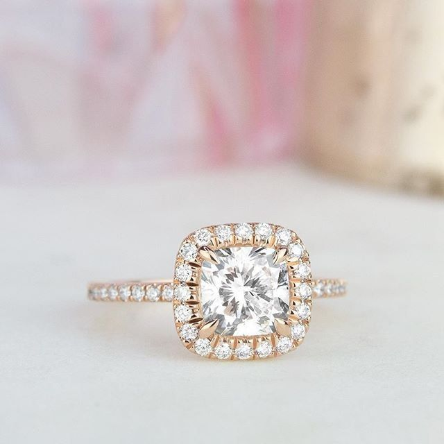 Rose Gold Engagement Rings Are At Once Modern And Vintage In Feel What S Yo Rose Gold Engagement Ring Diamond Engagement Rings Cushion Engagement Ring On Hand