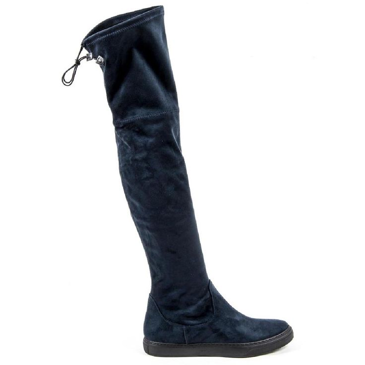 V 1969 Italia Womens High Boot B2472 CAMOSCIO BLU