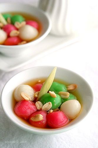 Wedang Ronde, traditional beverage made of glutinous rice balls in ginger syrup.