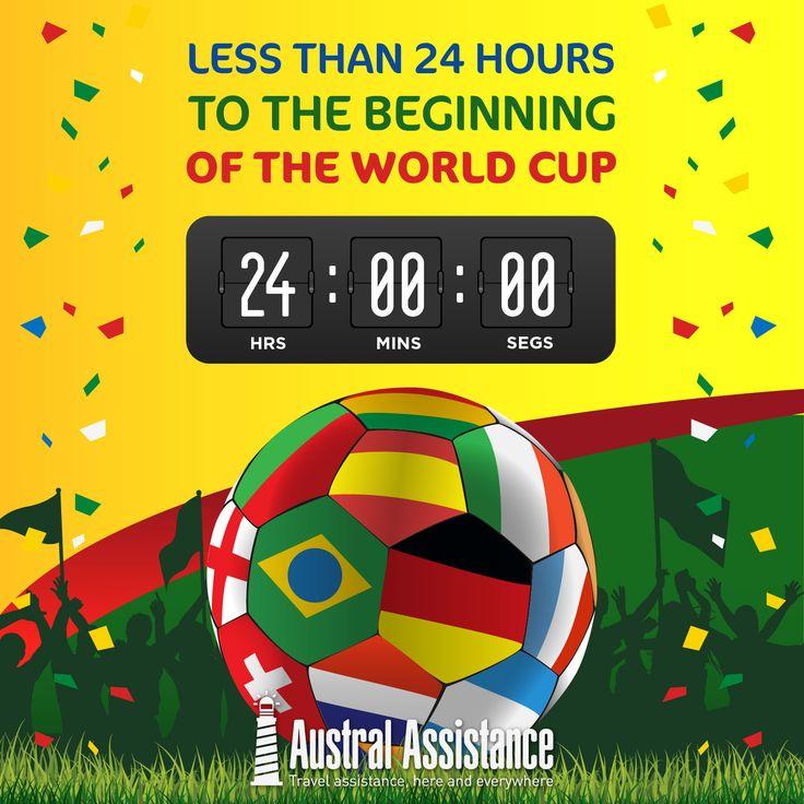 Countdown #Mundial2014---> Austral Assistance - Asistencia al viajero, aquí y en todo el mundo. www.australassistance.com