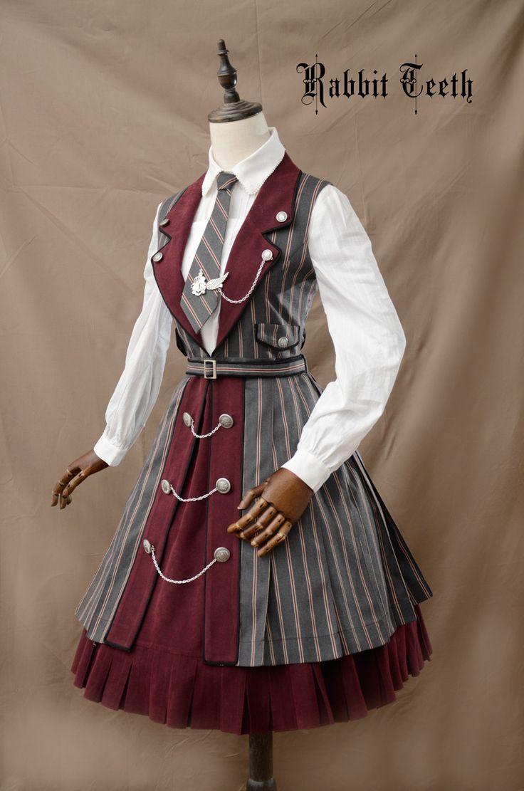 Rabbit Teeth ~The Tower of Ivory~ College School Style Lolita JSK $93.99-Lolita Dresses - My Lolita Dress